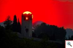 "Torre medievale ""degli Ezzelini"" a San Zenone all'alba (Foto nr.145)"