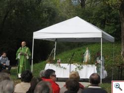 Omelia del Diacono Bruno Martino presso l'oasi di San Daniele  (foto di Mirella Ballan)